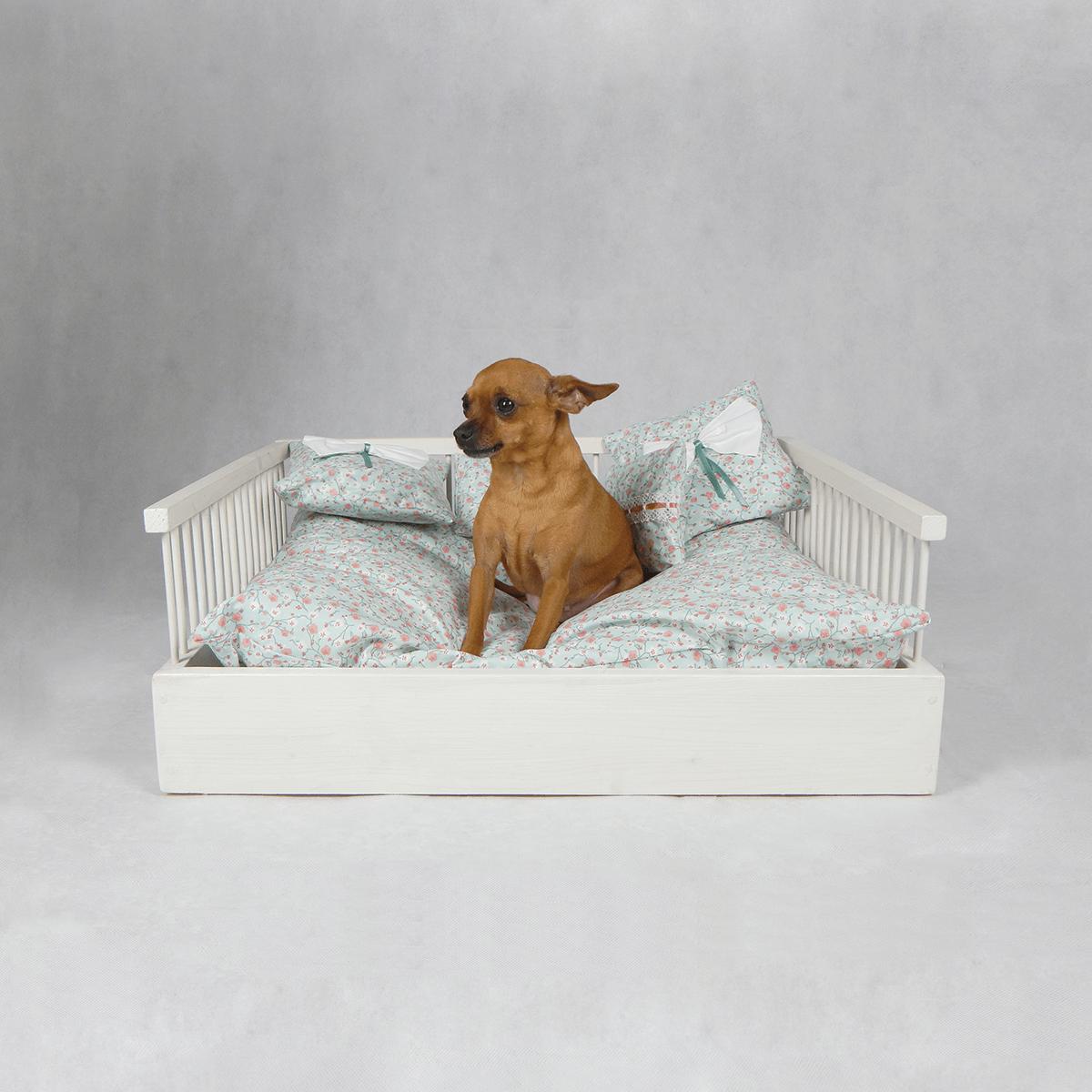Cuccia per cani e gatti Shabby Fiori