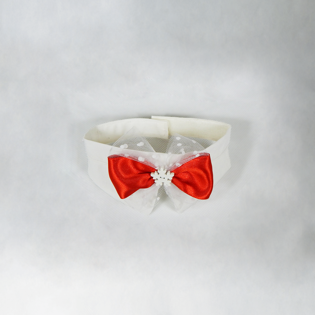 *SPECIALE* Papillon natalizio bianco con fiocco rosso