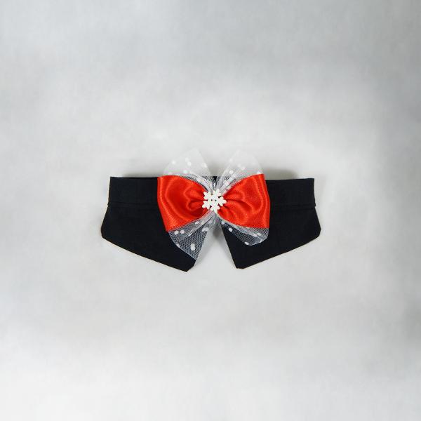 *SPECIALE* Papillon Natalizio nero con fiocco rosso